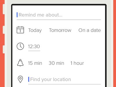 Reminder App (Add Reminder Screen)