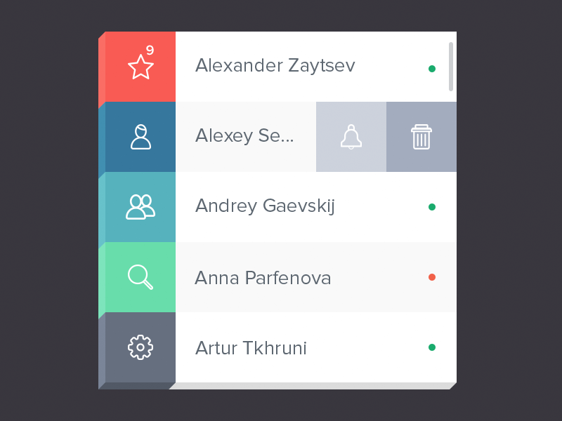Contact Widget [Freebie] widget app contact freebie flat solid