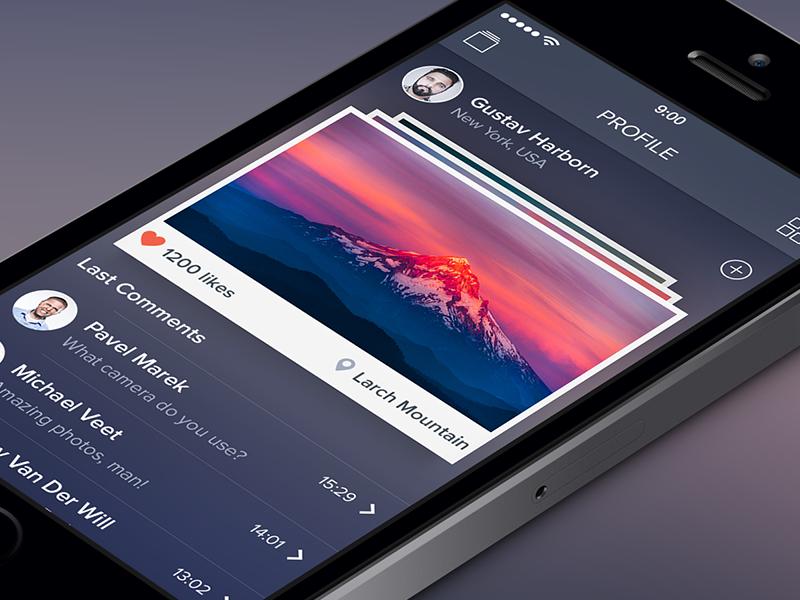 Photo App [Photographer Profile Screen] photo ipad iphone app ui ios7