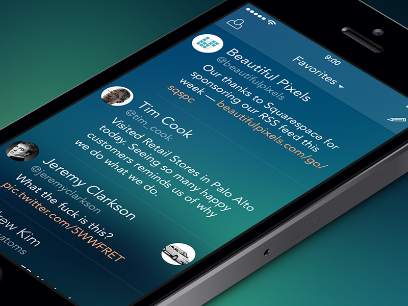 Twi App Feed [Freebie] ios7 ui app iphone ipad twi twitter