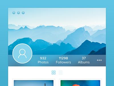 Trns Widget widget app simple blur flat gallery