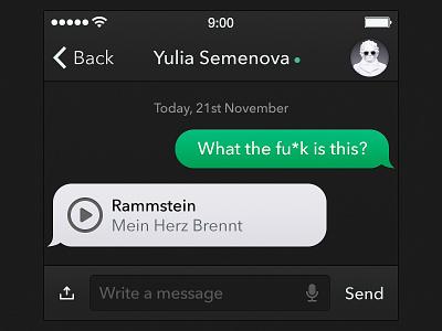 Messages UI App [Freebie] app ui iphone ipad ios7 ios6 messages ikons
