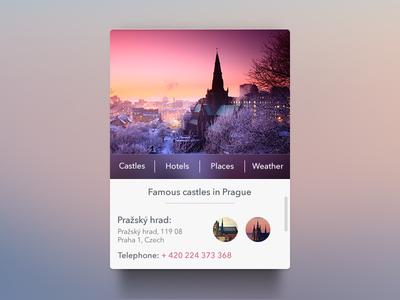 Prague Widget [Freebie] widget app prague ui freebie psd