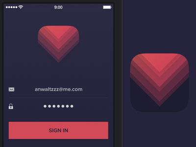 Icon and Sign-In Screen for upcoming project icon development iphone ios7 app ui screen sign-in