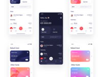 MultiPay — More Exploration finance dark gradient ios ui iphone app