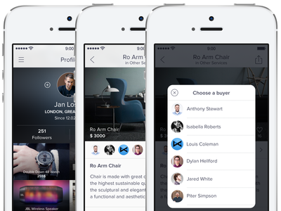 BNS — app for iPhone [Sidebar, Pop-Up Users, Item Screens]