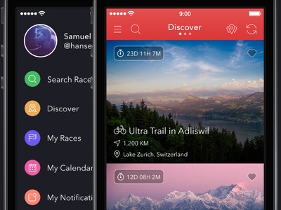 Hey!Race App for iPhone