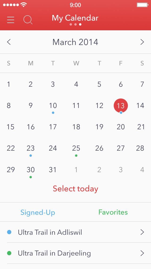 Heyrace calendar