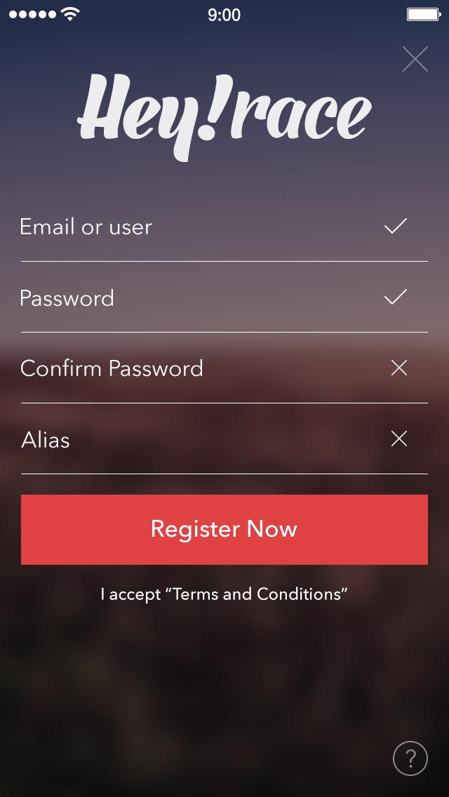 Heyrace register