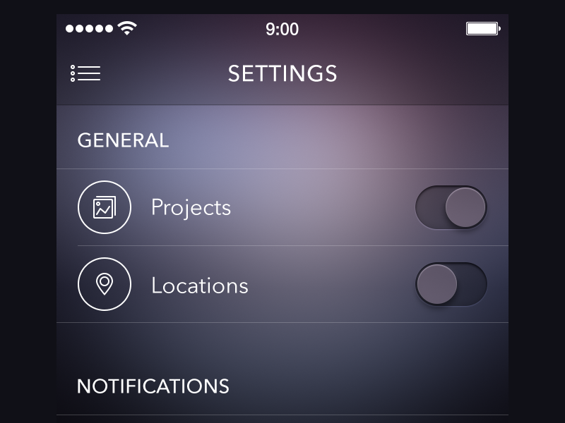 Settings Screen [ewebdesign.com] app icon settings ios7 iphone ipad ewebdesign