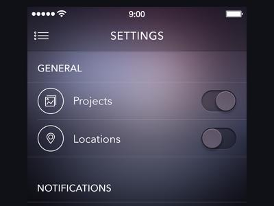 Settings Screen [ewebdesign.com]
