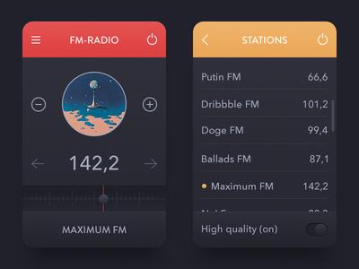 FM Radio [Rebound & Freebie] widget app radio ui