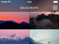 Backdrops square pics