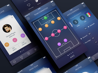 Secret Football App [All Screens]