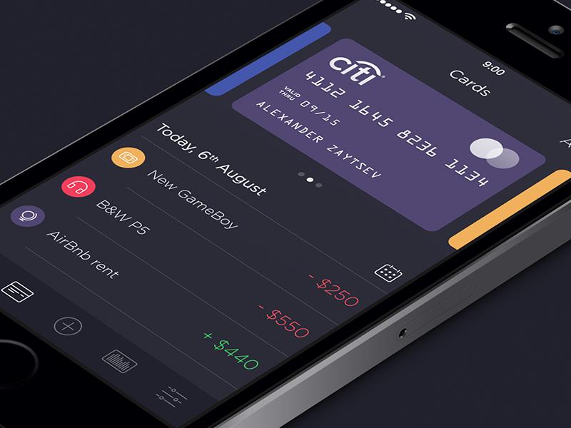 Walle Finance App [v2.0] app ui ios7 ipad iphone walle finance creative market