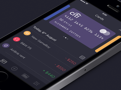 Walle Finance App [v2.0] app ui ios7 ipad iphone walle finance creative market