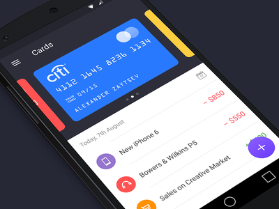 Walle Finance App [Android] app ui android walle finance creative market
