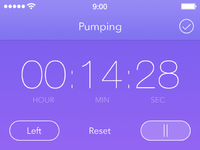 Timer screen on