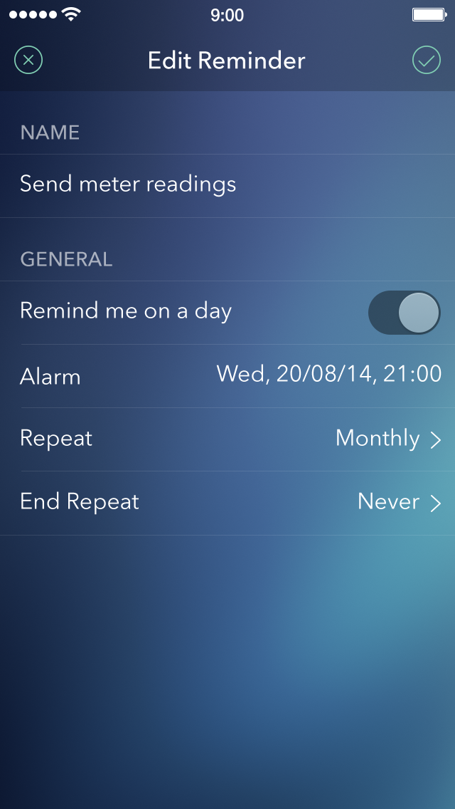 Wrnc reminders settings