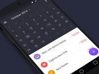 Walle Finance App [Android Calendar]