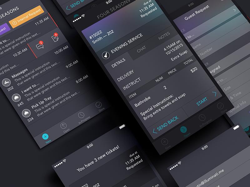 Employee App [Screens] app ui ios7 ipad iphone employee hotel