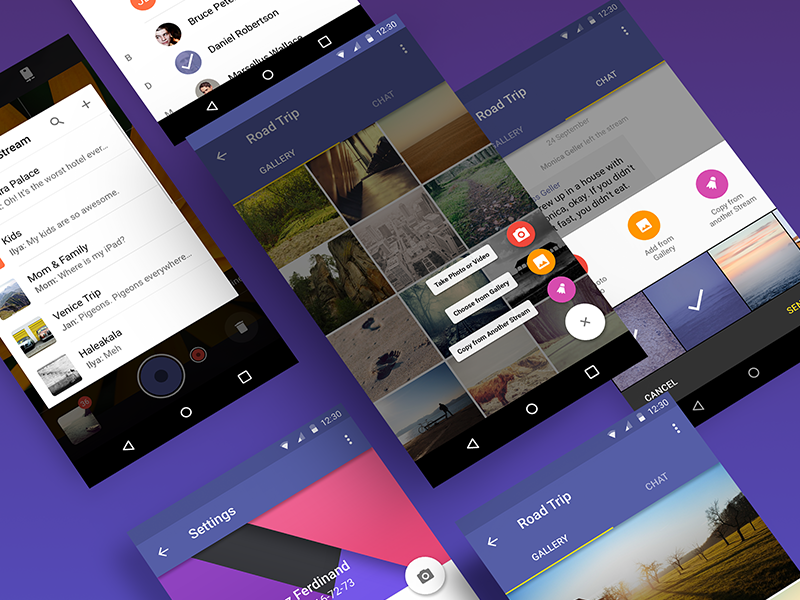 Secret Android App [4] by Alexander Zaytsev | Dribbble | Dribbble