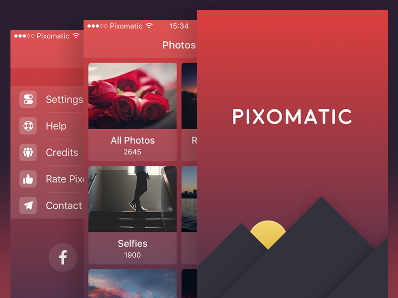 Pixomatic Redesign  pixomatic ios ipad iphone gradient dark app