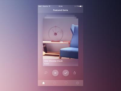 Featured Items Screen dingo featured items graph ios8 ios7 dark white ui app