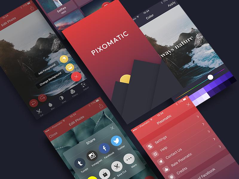 Pixomatic [Available in the App Store] photo pixomatic ios ipad iphone gradient dark app