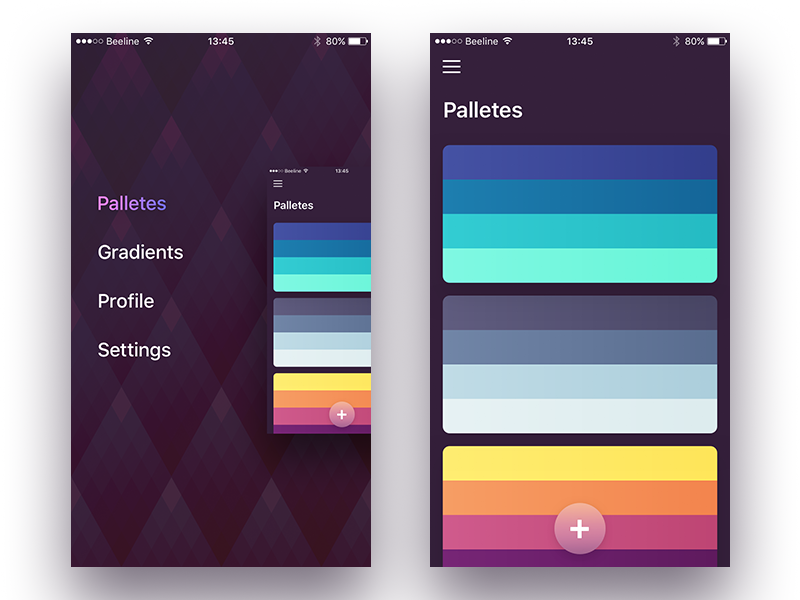 Small app for making palettes and gradients palette gradient ipad iphone ios icon app