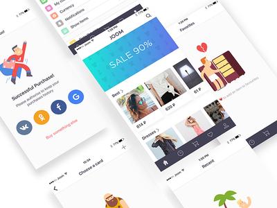 eCommerce App [Main Screen & Empty States Illustrations]