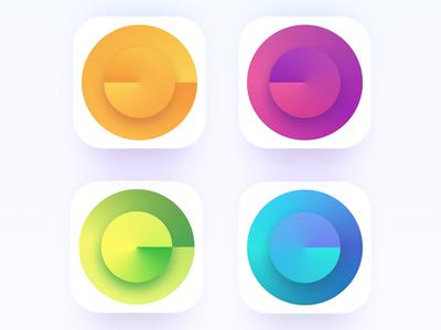 Icons for local art museum gradient angular museum art loca icon app