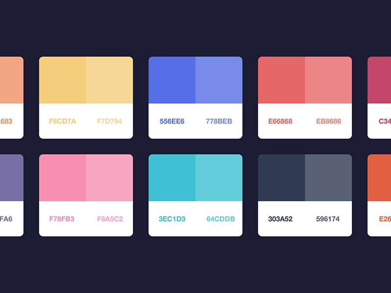 Palette For Flat Ui Colors 2 By Alexander Zaytsev Dribbble Dribbble