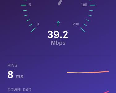 Internet Speed Test 2.0 test internet speed dark ui simple settings ios ipad iphone gradient app
