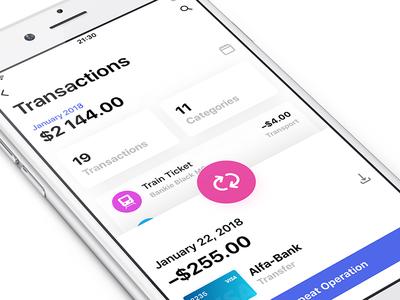 Bankie UI Kit — Transactions Info info gradient light category transactions kit bankie ux ipad iphone ui app