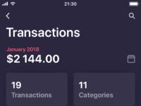 Transactions history info