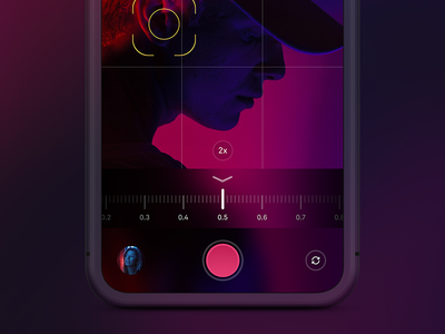 Camera UI 1.1 zoom ui red iphone ipad gradient dark camera app