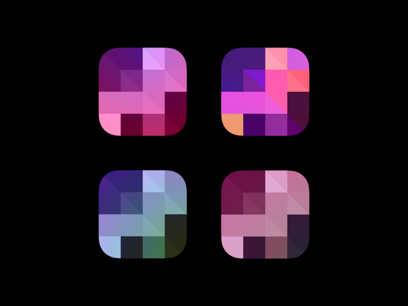 Icons Color Scheme logo illustration dark icon gradient ui iphone app