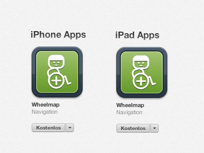 wheelmap iPhone App Icons app iphone icon ipad