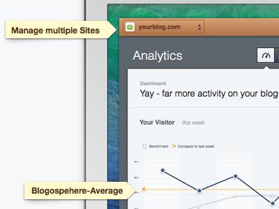 Web Analytics Screenshot webapp ui graphs analytics website