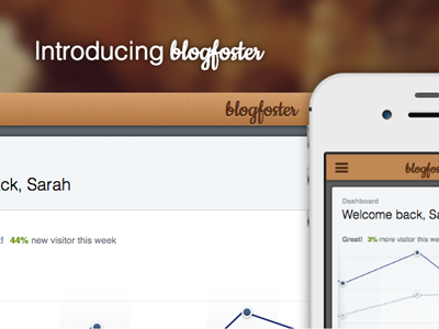 blogfoster.com launched blog analytics website webapp launch new startup