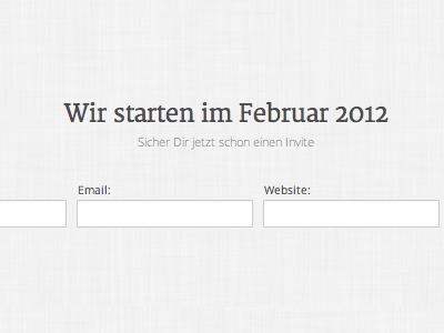 New Project: stil an;zeigen startup webapp stilanzeigen
