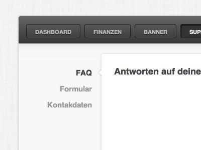 Seitennavigation ui webapp stilanzeigen