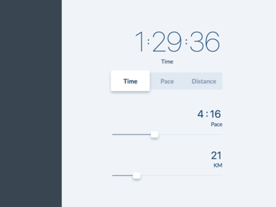 Pace calculator interface v0.4 lightweight simple interface calculator pace