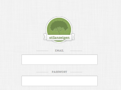 New stilanzeigen login ui webapp logo badge stilanzeigen