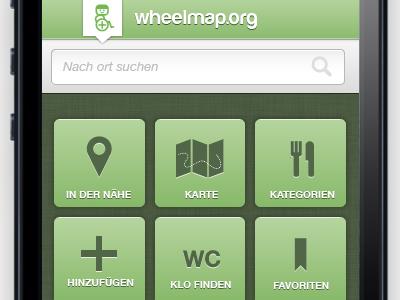 Wheelmap iPhone App Redesign app iphone interfacedesign ui maps