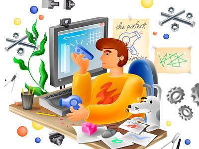 Industrial Designer working workspace pet dog boy industrial design industrialdesign 3d design designer portfolio designers work proffesional creative designer