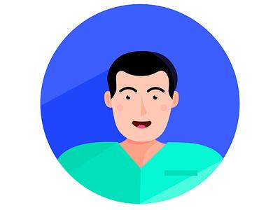Person no.6 profession man vector ui people nurse illustrator illustrations illustration icon human hair flat icons flat icon design flat icon flat design flat design
