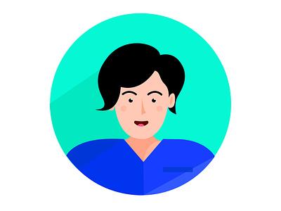 Person no.8 colors doctor nurses woman vector profession people nurse illustrator illustrations illustration icon human hair flat icons flat icon design flat icon flat design flat design