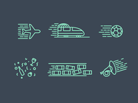 Icon set for sound effects